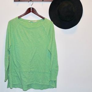 Soft Surroundings   Haven Tee Green Sweater Blouse